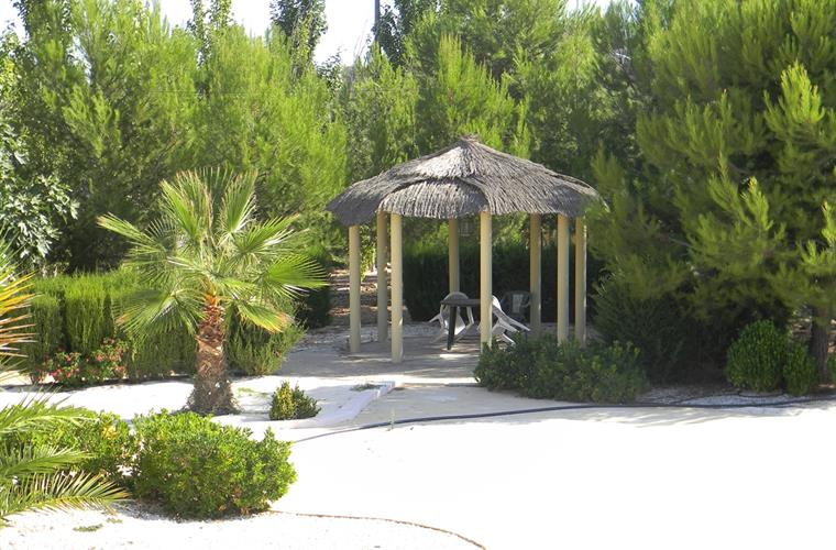 The garden gazebo - great for ceremony's or quiet space!