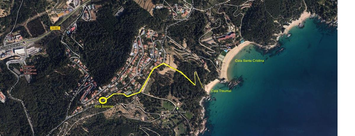 location, at only 400m of the beautiful beaches