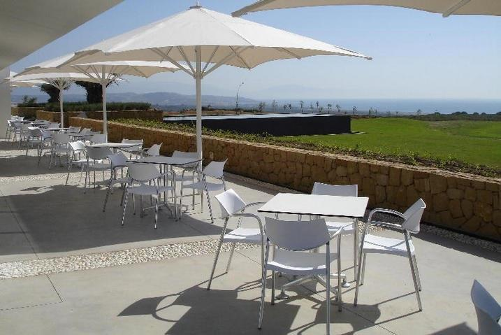 Golf club terrace