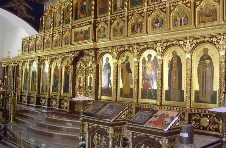 The Russian church, with many Icons, on the way to Altea