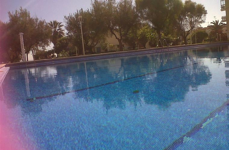 Largest pool in the area with 35m length.