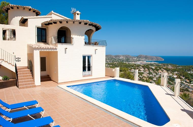 Views over Moraira from the pool