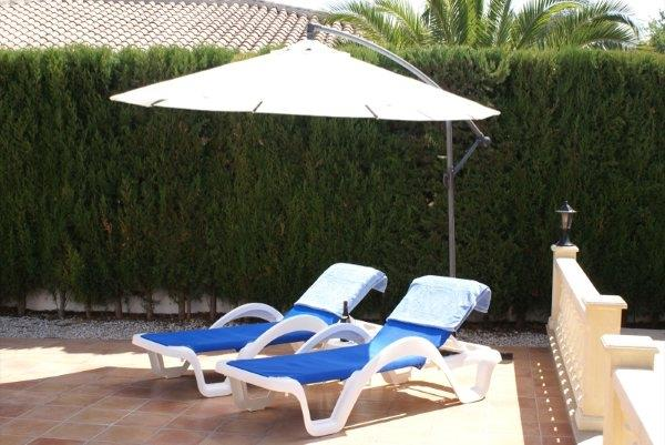 Poolterrace with sunbeds