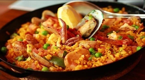 Paella Menu Includes Sangria!