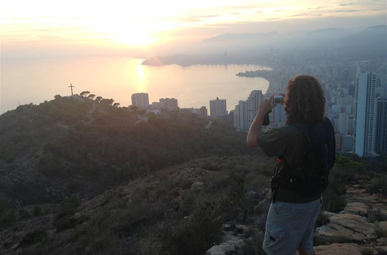 View over Benidorm from hike at the Sierra de Helada mountain