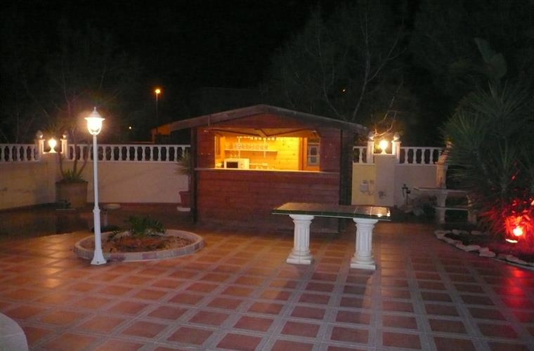 Bar area at night