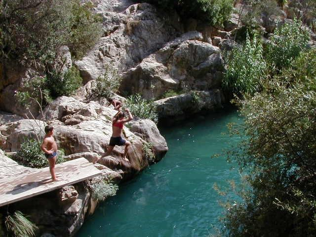 nearby , inland location  (waterfalls & river - superb cool swim)