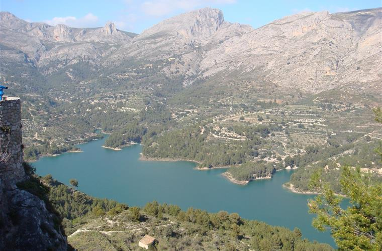 View from the popular tourist attraction of Guadalest