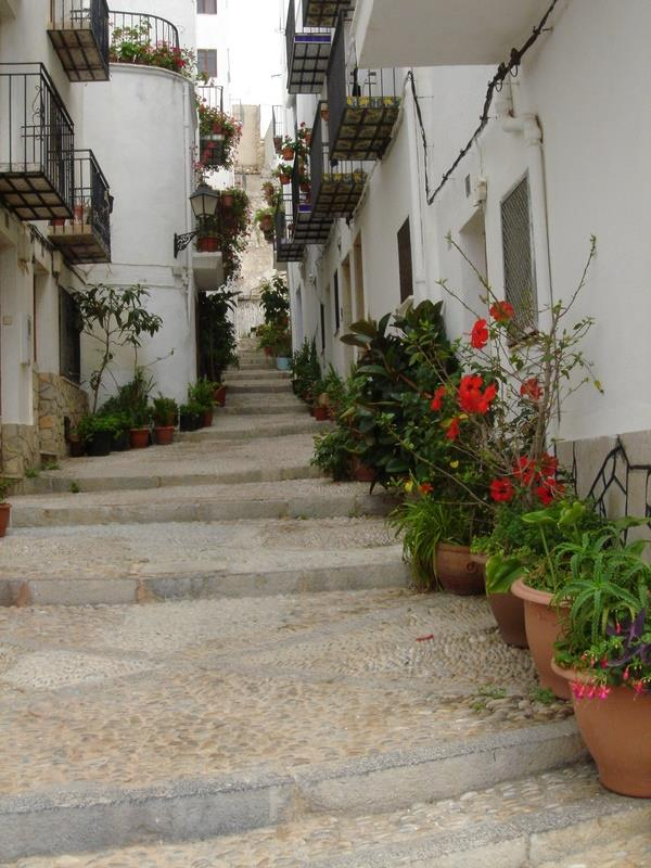 One of the narrow streets near the Castle