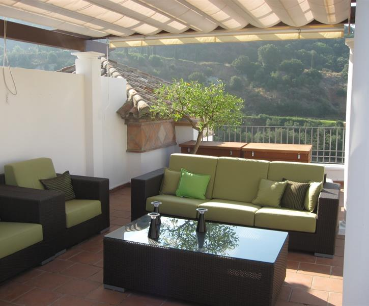 Lounge set on roof terrace