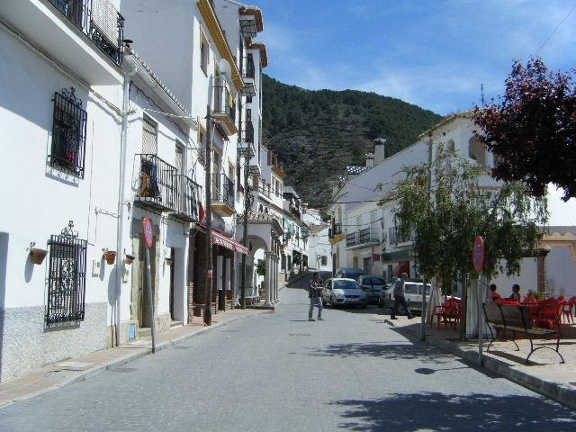 The main road through the village!