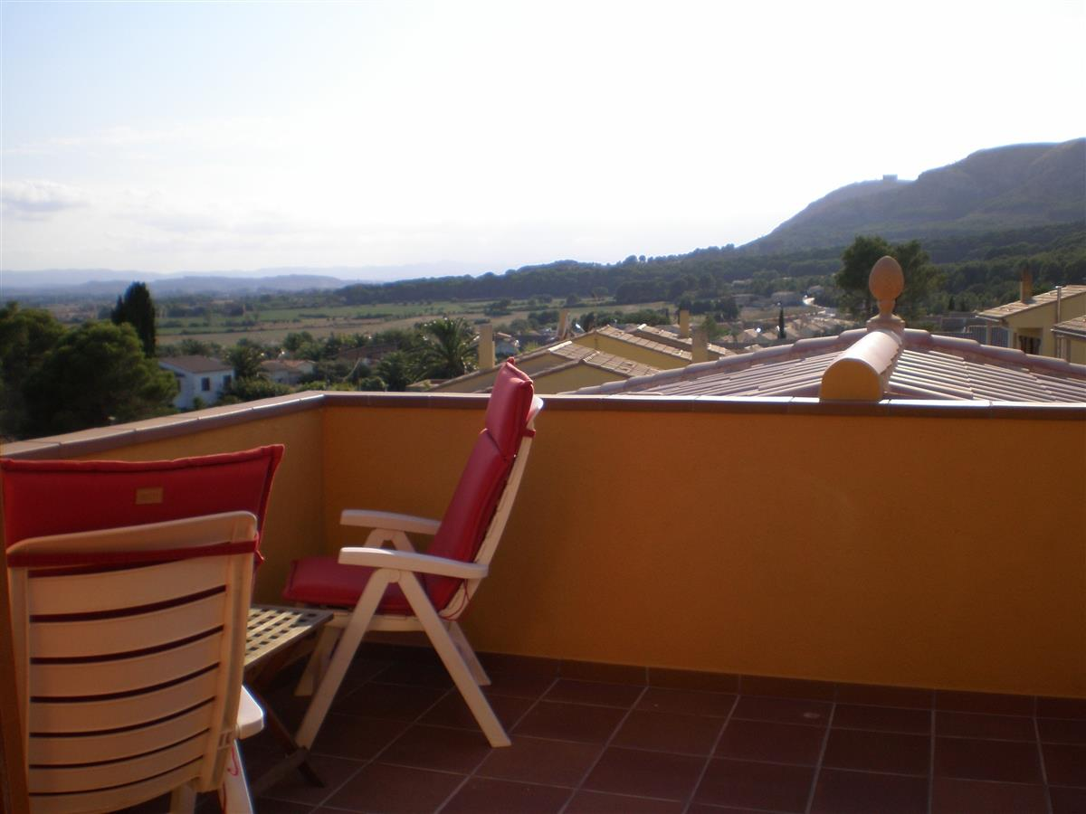 Fantastic panoramic views from the upstairs terrace