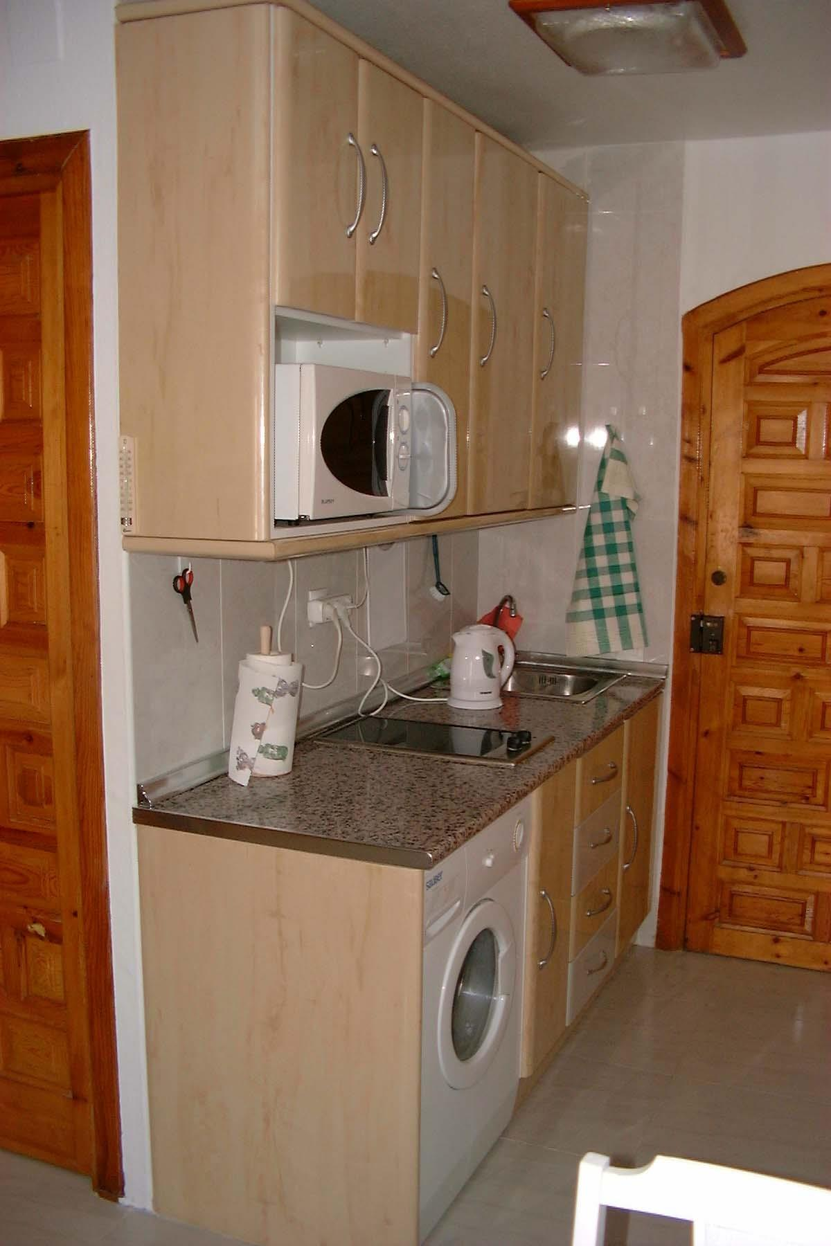 Kitchenette with micro and washing machine