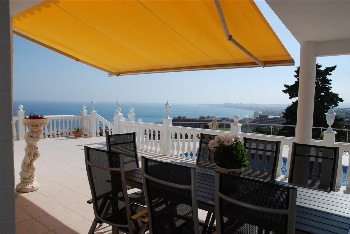 Panoramic view over the Mediterranean Sea from the terrace
