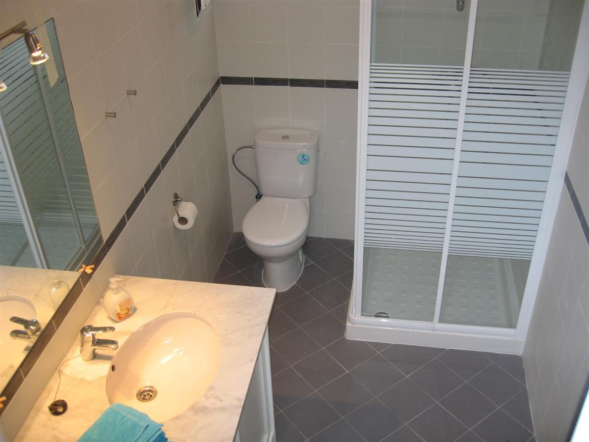 Completly renovated bathroom downstairs