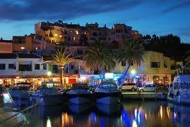 Cabopino Marina and its fantastic restaurants, by night!