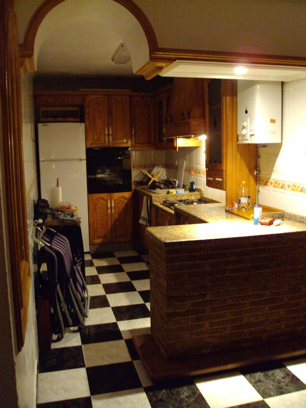 Main kitchen on ground floor, by the entrance.