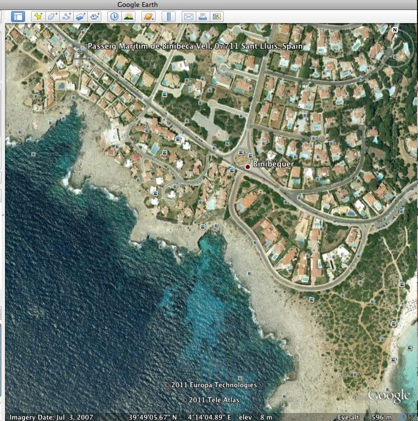 "Google earth 39º49'05.60""N4º14'04.53""E"
