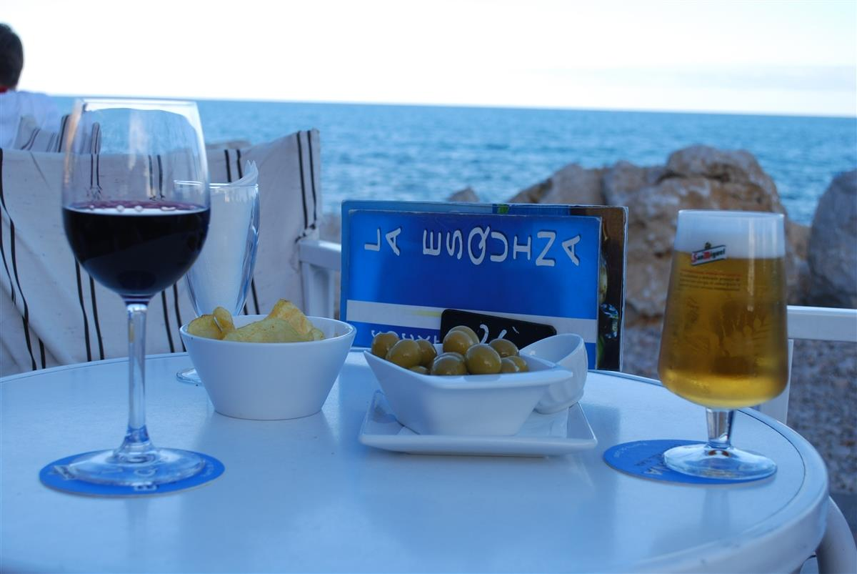 Drinks at the Javea port