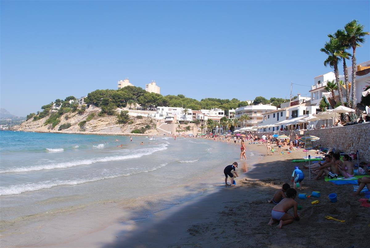 El Portet Beach in Moraira--15 minutes away