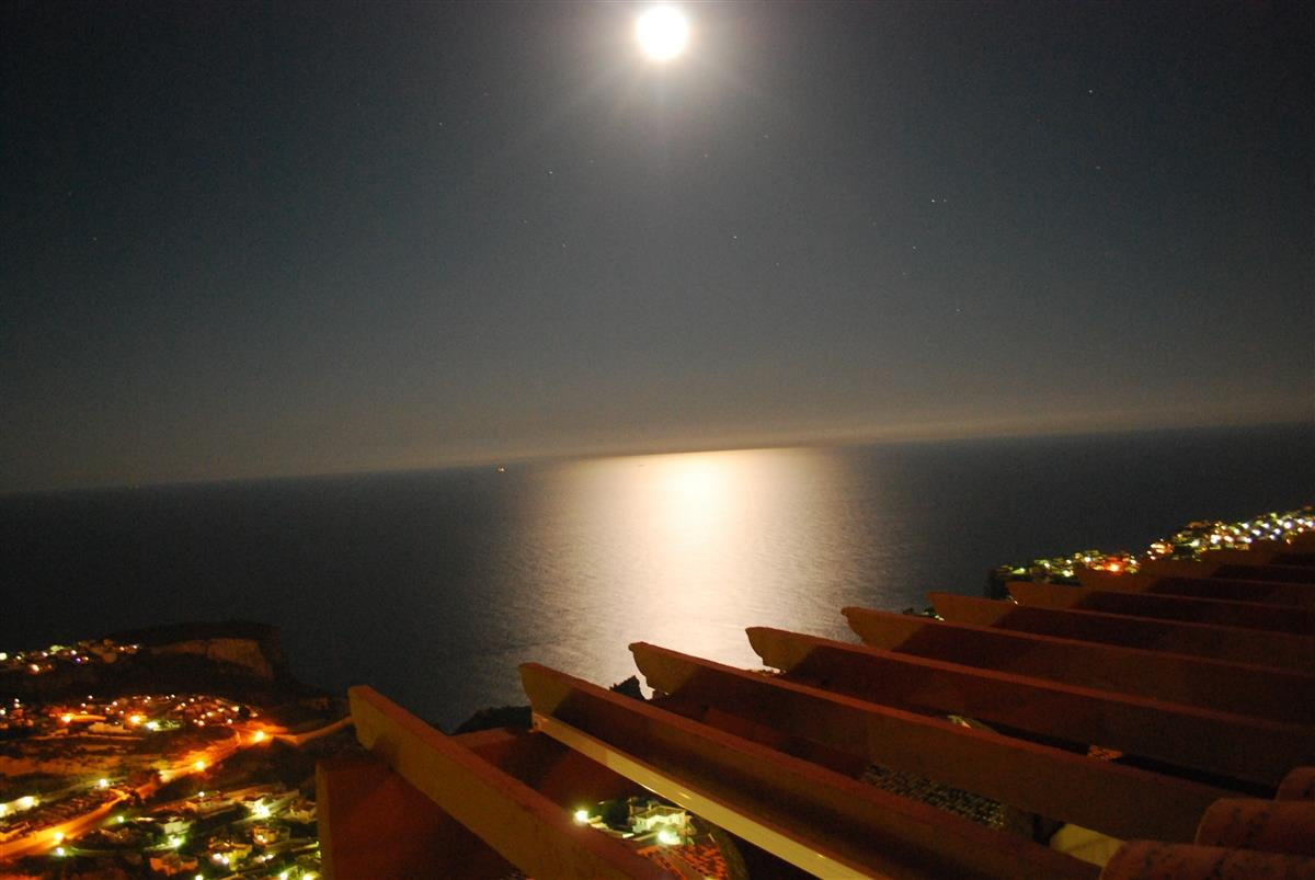 Full Moon over the Mediterranean Sea