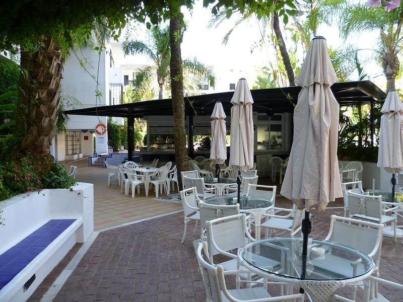 Cafeteria outside by pool area