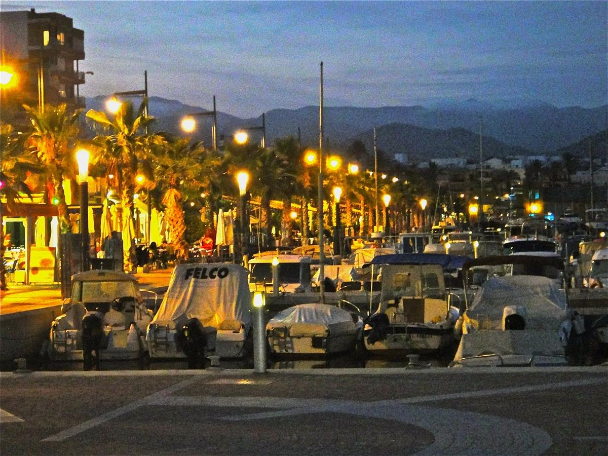 The Marina in Puerto de Mazarron by night