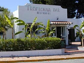 Tropicana bar/restaurant around the corner from the villa