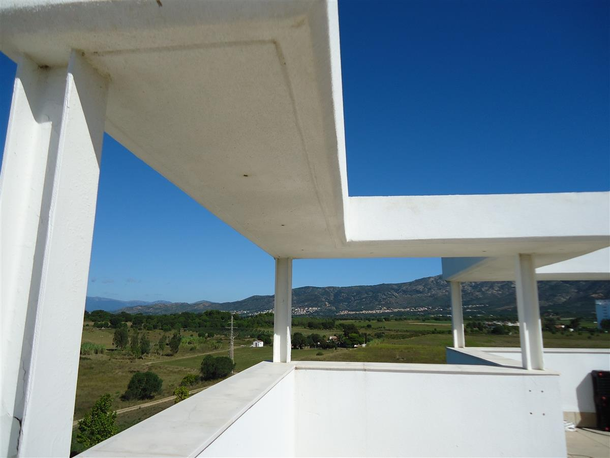 Fantastic views over mountains and sea from roof terrace.