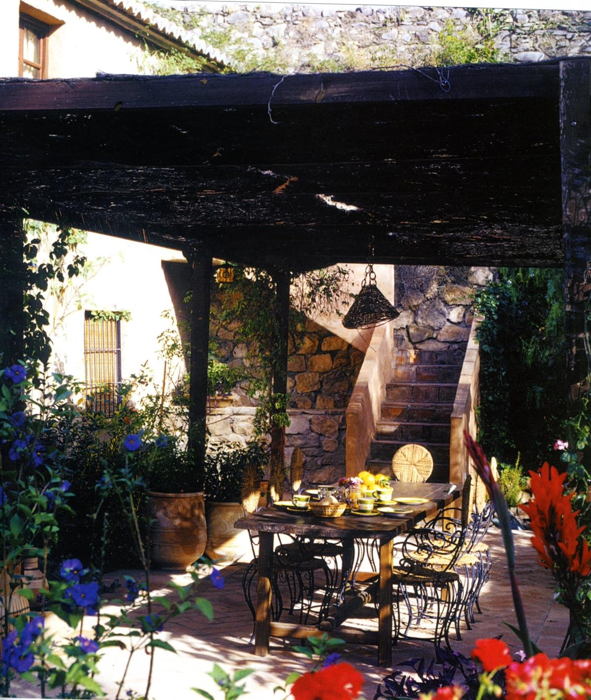 The rear patio outside dinning ares