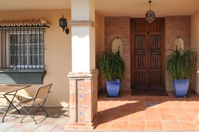 Front door of the villa in Mijas Golf