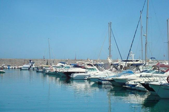 The yachts at the Marina in Fuengirola