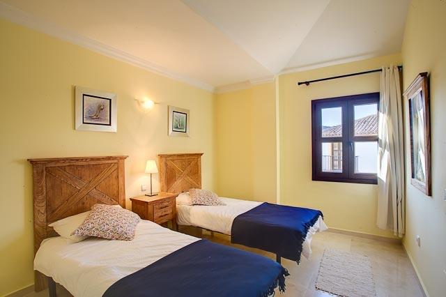 A child friendly twin bedroom on the first floor