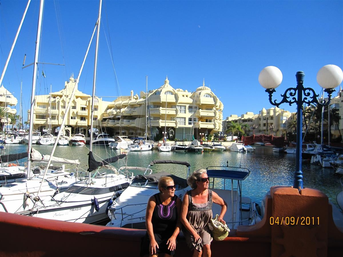 Our lovely Puerto Marina near by