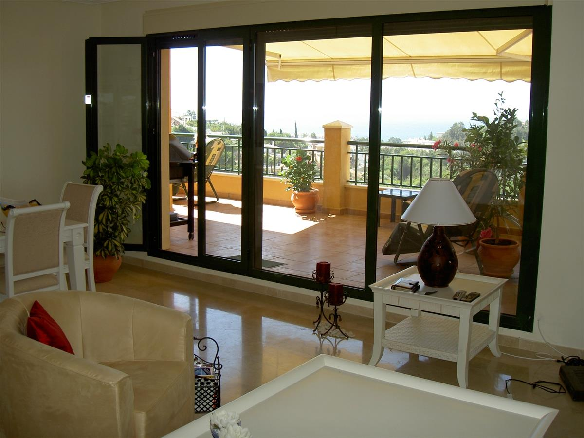 Part of the terrace seen from the lounge