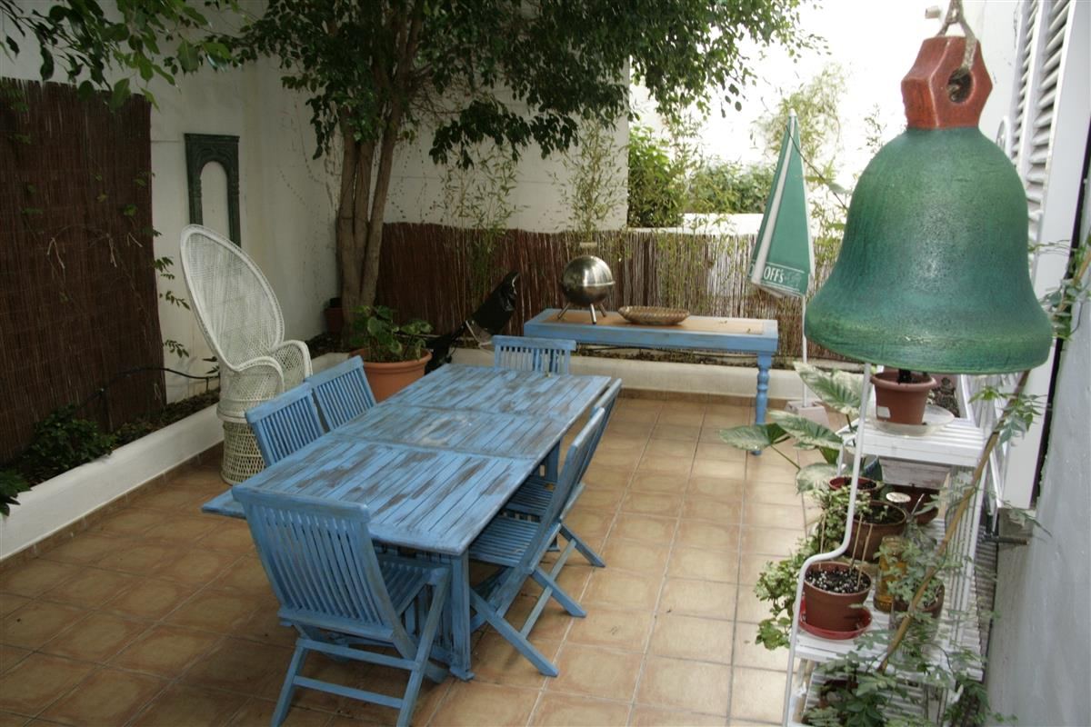 Shaded terrace ideal for barbecues
