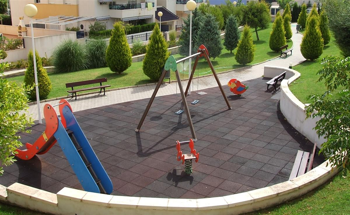 Children's playground in complex