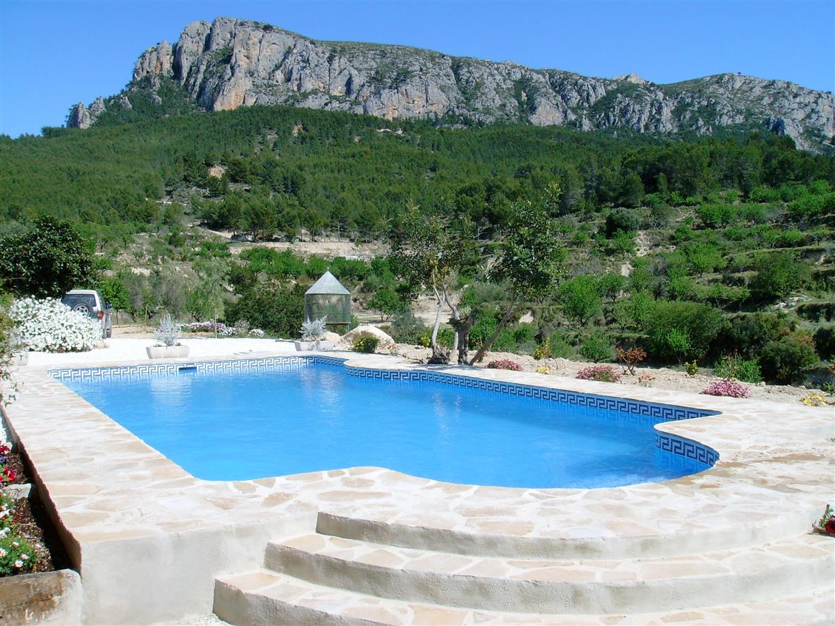 10m x 5m pool towards the Olta mountain