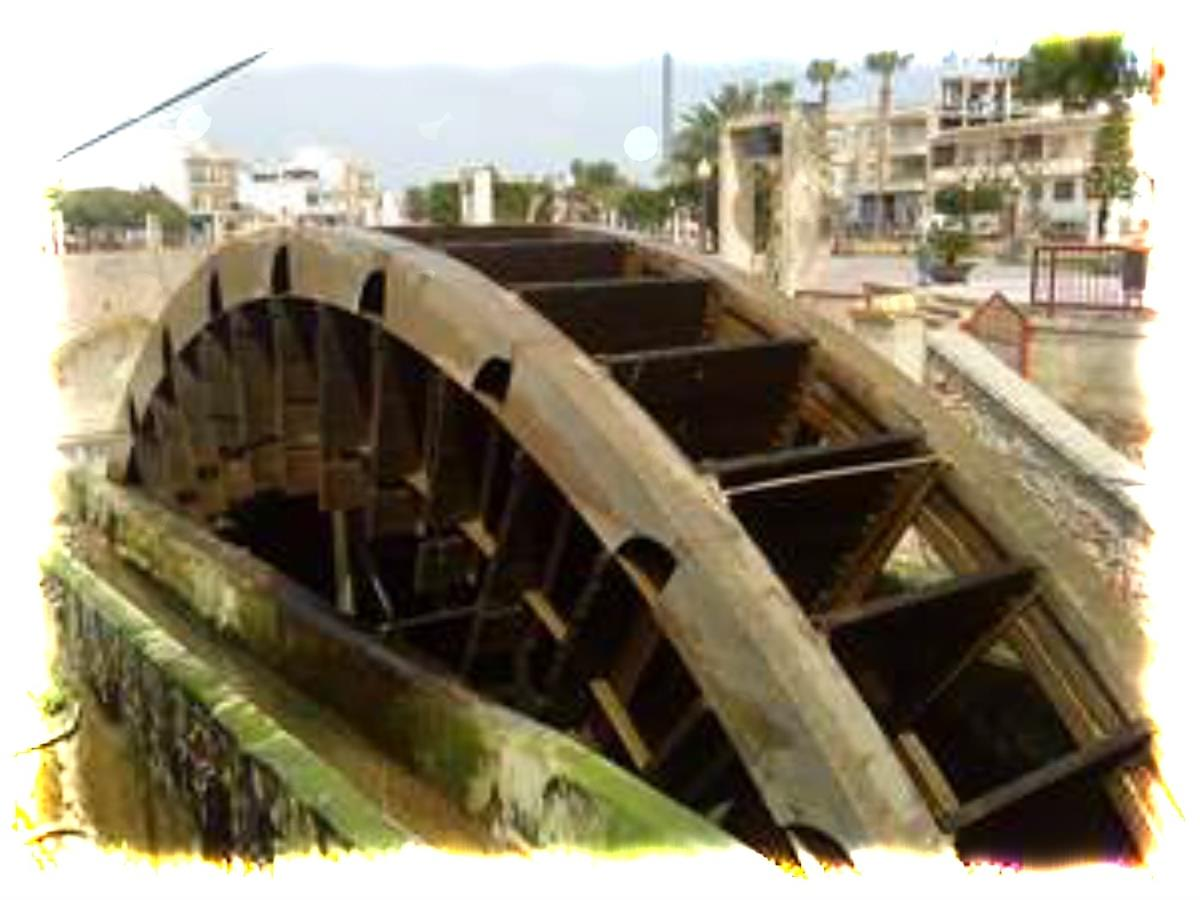 Rojales water wheel