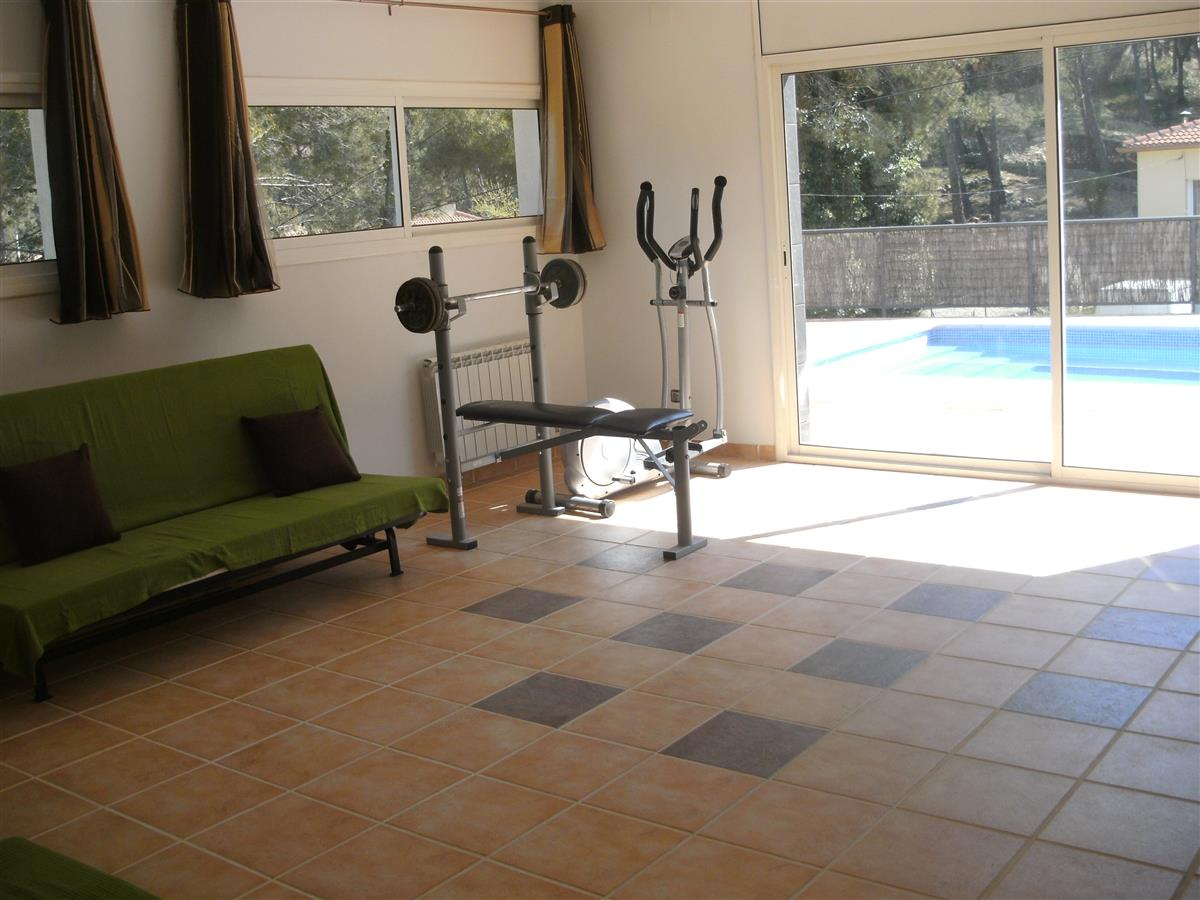 Leisure room with games and 3 double sofa beds