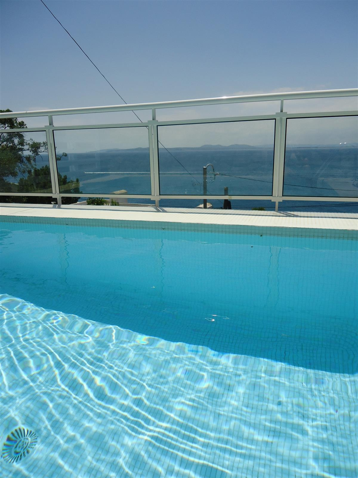 New infinity pool. Stunning views and hear the sea from the pool!