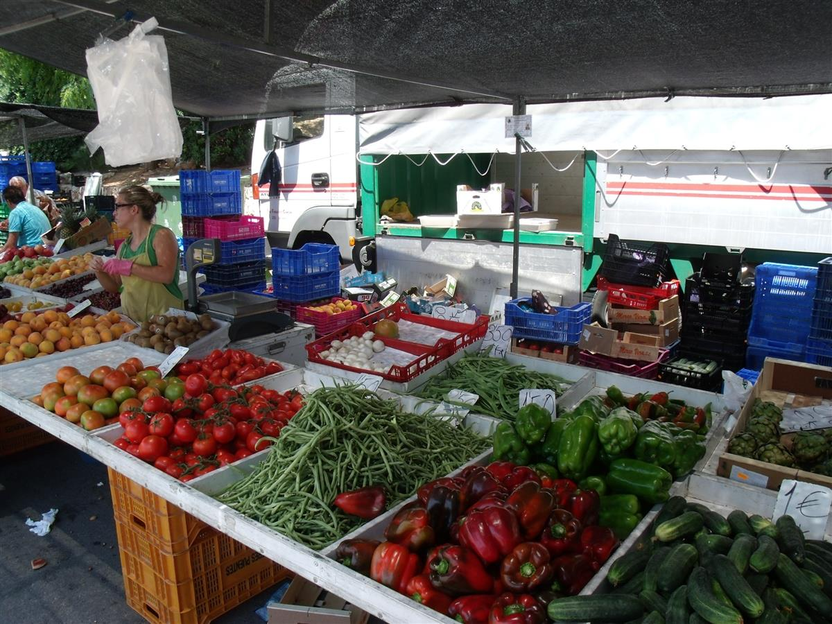 Wonderful produce at Javea Old Town's Thursday morning market