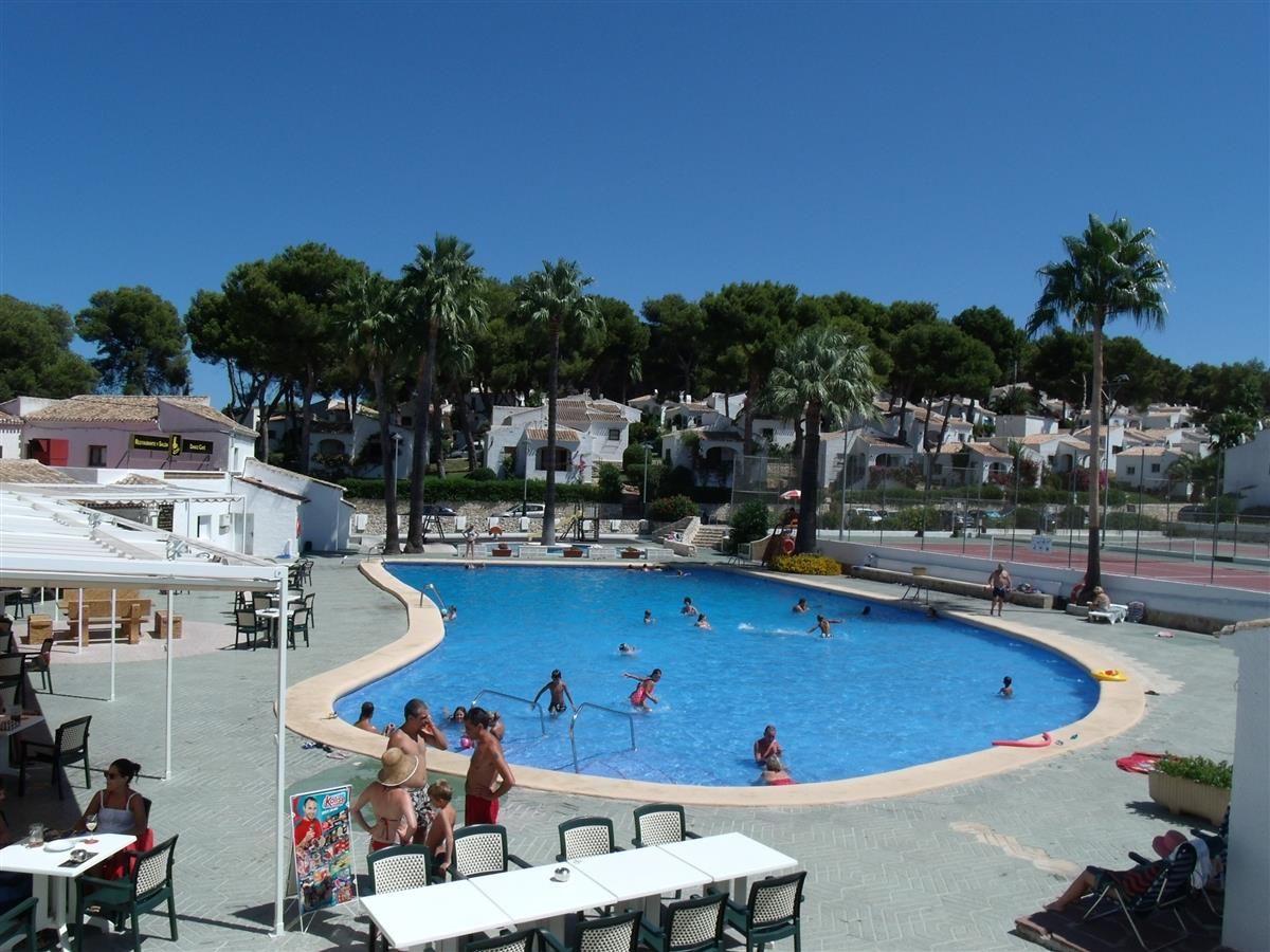 Tha main pool with bar for tapas & a beer