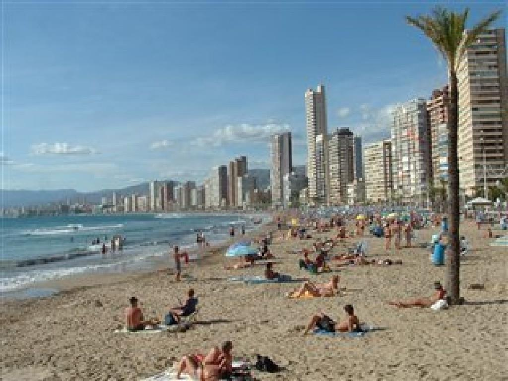 The beautiful white beaches of Benidorm