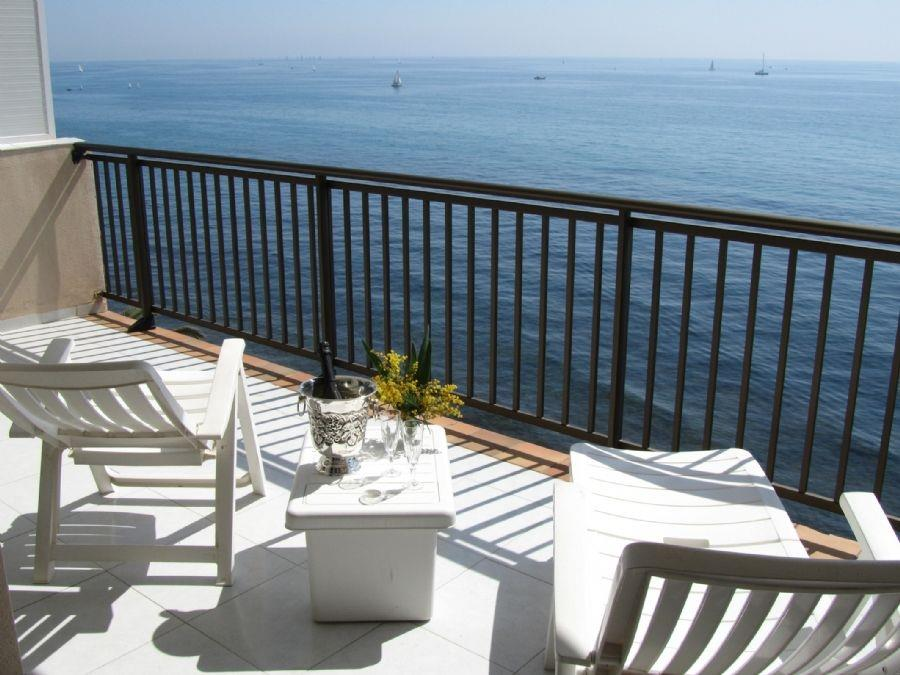 Balcony with loungers