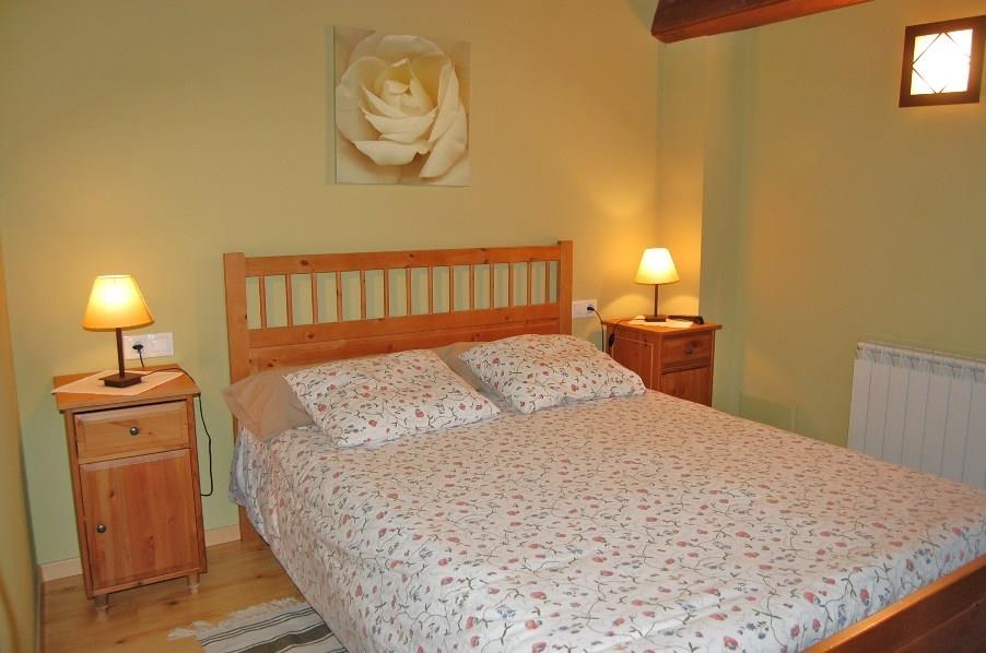 One of the two double beds