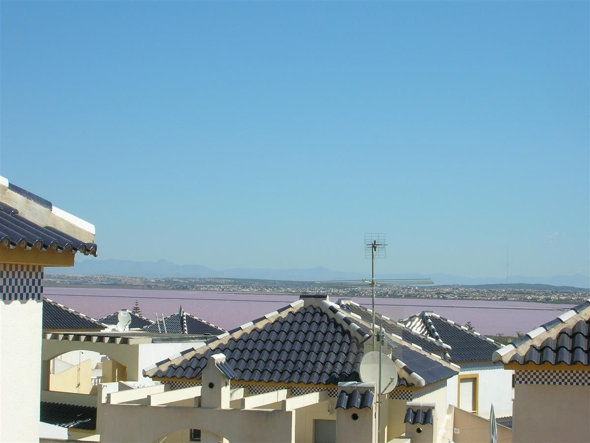 View of salt lakes from Bungalow Solarium