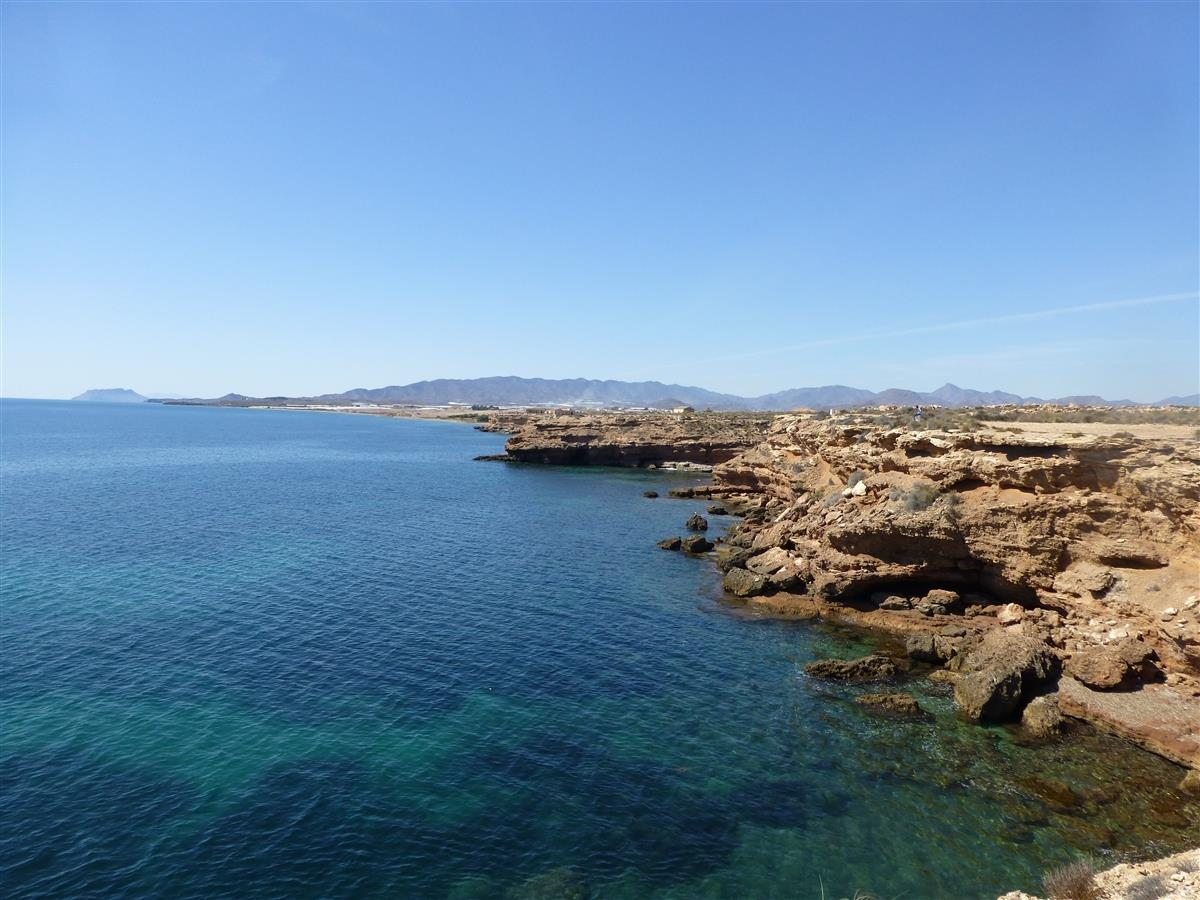 Stunning clear waters at Bolnuevo 8km from Apartment