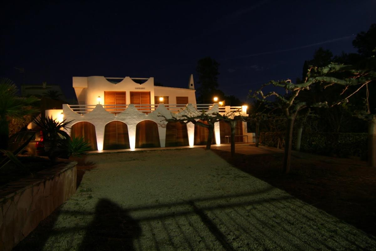 Night view of the beach house