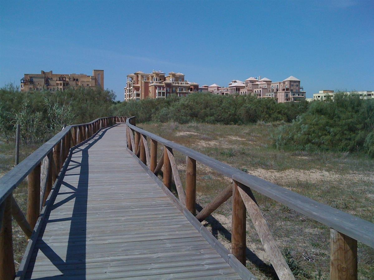 Walkway from the beach to the apartment